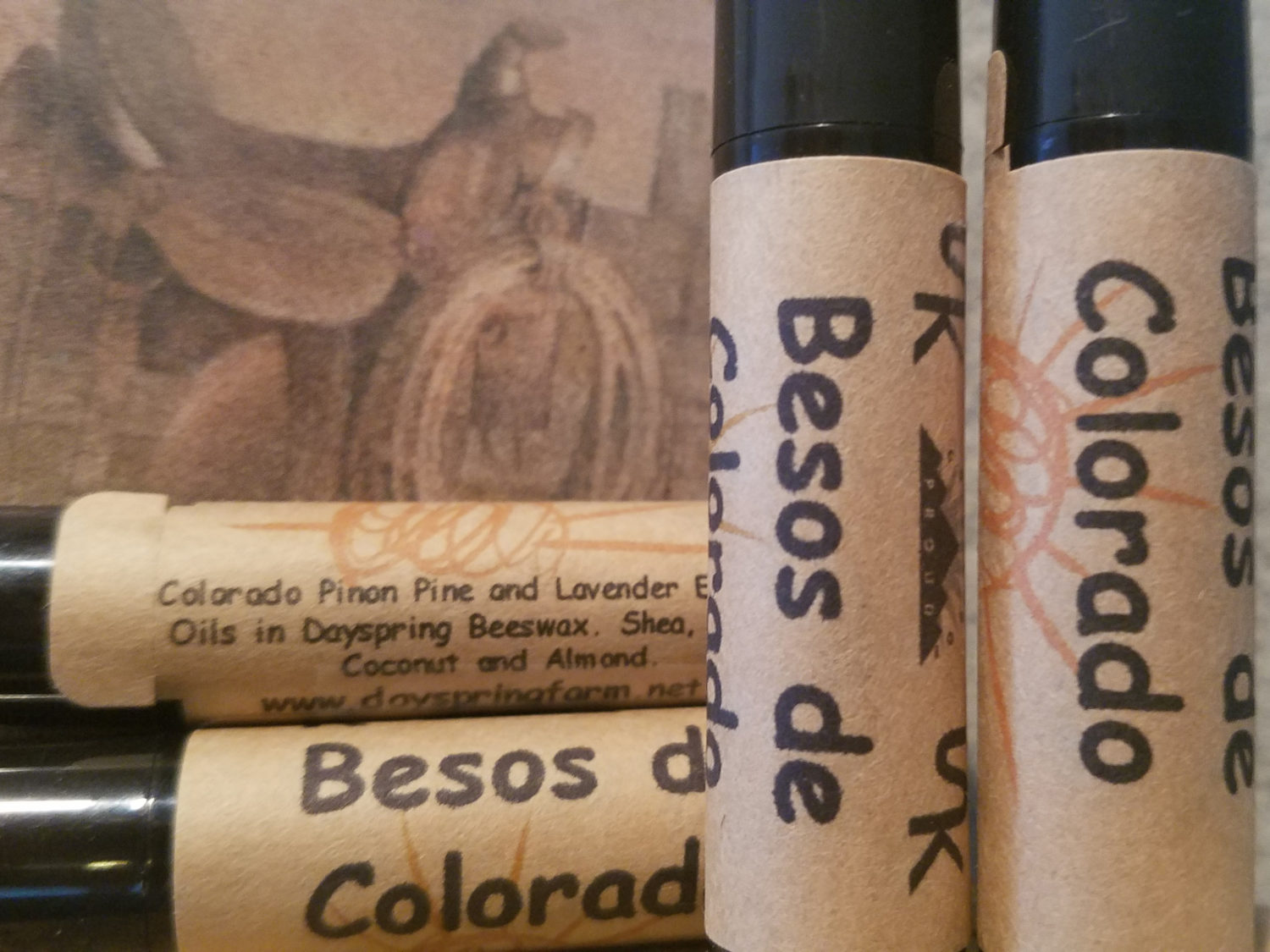 Organic Chapstick made with Pinon Pine and Lavender Essential Oils
